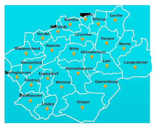 Stadtteile Winterdienst Schnee- Eisbeseitigung Bochum